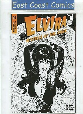 Elvira Mistress Of The Dark #7 Royle 1:20 B/W Variant  - Release Date 17/07/19