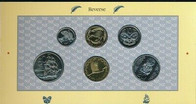 New Zealand: 1990 UNCIRCULATED Set, Introduction New $1, $2, New design of 20c