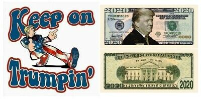 Keep on Trumpin' and 2020 Bill Presidential Novelty Funny Money Donald Trump
