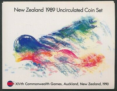 New Zealand: 1989 Brilliant UNCIRCULATED Set, 5c-$1, Commonwealth Games