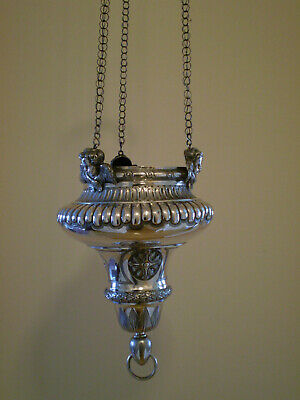 Catholic church sanctuary lamp French solid silver 1817-19