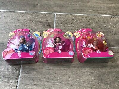 3 X Barbie Petites Club Miniature Collectible Doll Figures Set Boxed Sealed 😍