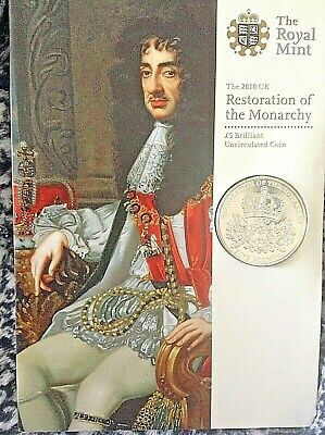 2010 Uk Restoration Of The Monarchy £5 Brilliant Uncirculated Coin