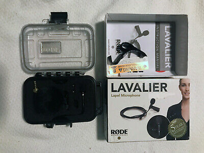 Rode Lavalier Lapel Microphone with Extra MiCon Cables and Connectors