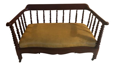 Antique Mahogany Slipper Bed for the end of the bed, Great Dog Bed.Small Settee