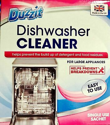 Duzzit DISHWASHER CLEANER Rinses Cleaner Clean Single Use Kitchen Clean UK SALE
