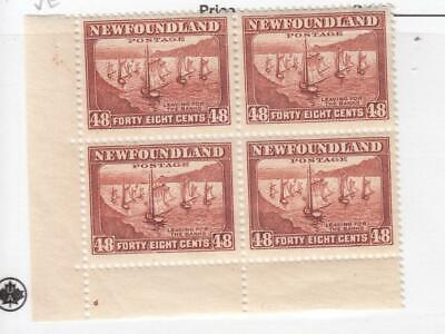 NEWFOUNDLAND (MK3924) # 199 VF-MNH 48cts FISHING FLEET BLOCK OF 4 CAT VALUE $90