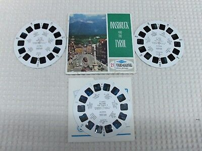 3 disques view master  INNSBRUCK AND THE TYROL   état voir photo