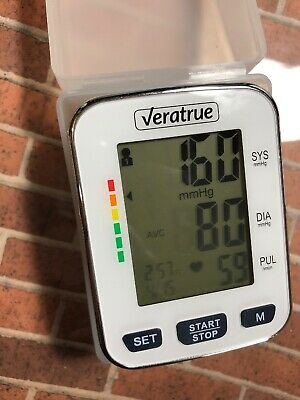 VeraTrue Automatic Wrist Blood Pressure Monitor XXL LCD Display Accurate Results