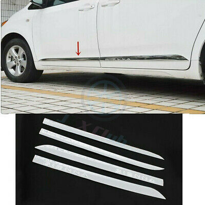 Body Side Door Cover ABS Molding Trim Strip 4PCS Fit For Toyota Sienna 2011-2016