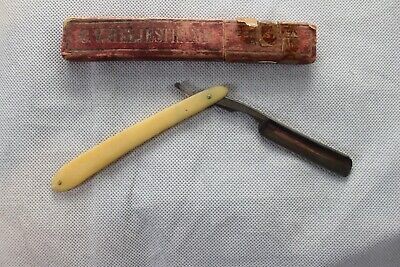 Vintage C.V. Heljestrand No. 30 Straight Razor Eskilstuna Sweden In Original Box