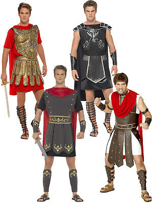 Mens Roman Gladiator Costume Adults Soldier Greek Centurion Fancy Dress Outfit