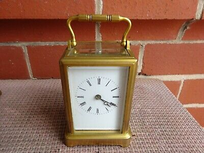 Good Victorian Brass Carriage Clock In Gorge Case
