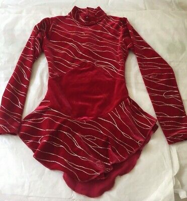 Ice Skating Dress - Red & Silver