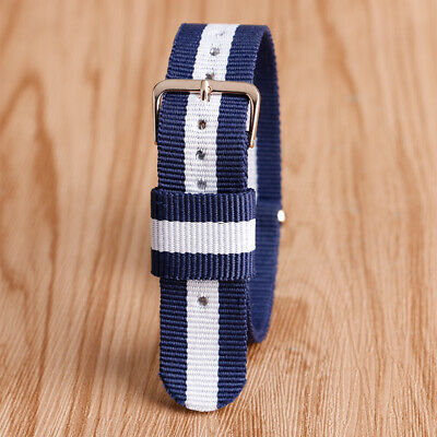 2 Spring Bars Watch Band 20mm Canvas Replacement Wrist Bracelet Watch Strap