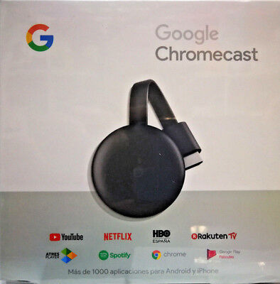 Google Chromecast 3ª Gen. HDMI/ Full HD Smart TV (Original Google)