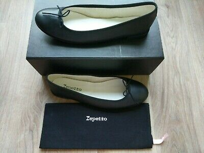 4ee9df3cc0814 Repetto Cendrillon Black Nappa Leather Ballet Flats Size 42 Women's $345