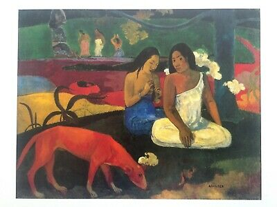 "Paul Gauguin Rare Vintage 1994 French Lithograph Art Print "" Areared "" 1892"