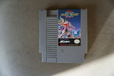 DOUBLE DRAGON II 2 TWO  NES vintage authentic   NINTENDO Game Tested work
