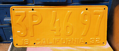 1932 California License Plate. LETTERS AND NUMBERS NEED TO BE REPAINTED