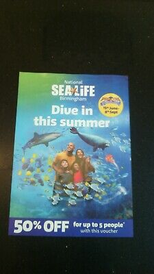 National Sealife Birmingham 50% Off For Up To 5 People Voucher