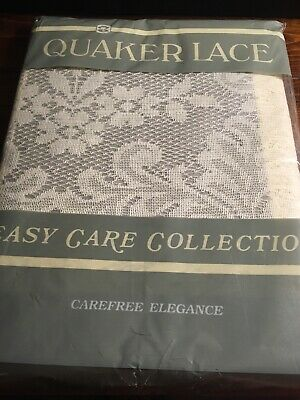 Quaker Lace Table Cloth Number 474 Easy Care Collection New 60 X 92