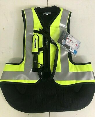 Helite Airbag Motorcycle Turtle Airbag Vest Hi Viz Yellow Sz M Marked