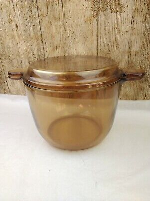 Vision Corning Amber Glass Large Casserole Dish With Lid
