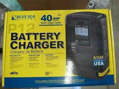BLUE SEA SYSTEMS P12 BATTERY CHARGER - 12V DC - 40Amp  #7522