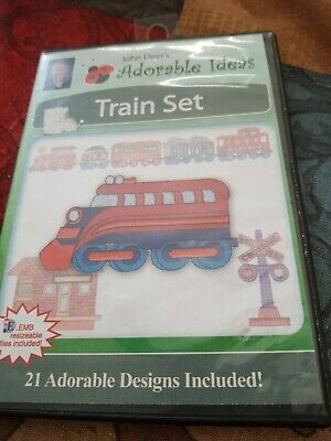 Train set embroidery Stitches 21 adorable designs included