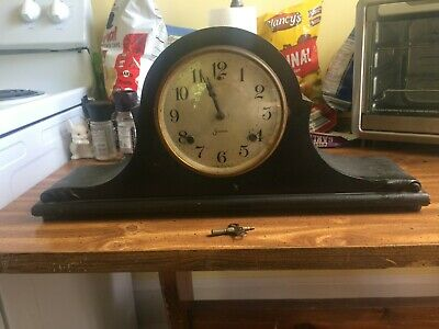 Original Sessions Mantle Clock circa 1930's with Original Winding Key!
