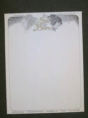 A Star Is Born   -  Original 1976 Movie Studio Letterhead - Barbra Streisand