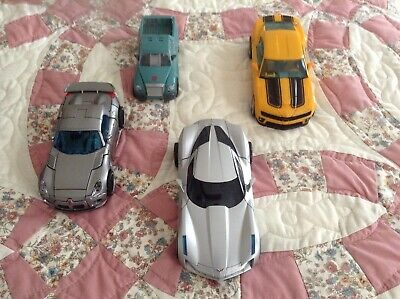 Transformers LOT of 4 robot car action figures toy bumblebee