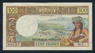 "New Caledonia: 1973 100 Francs ""LITHOGRAPHED PRINT"". Pick 63b GVF - Cat VF $73+"