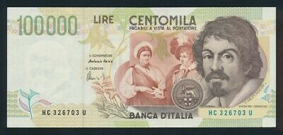"""Italy: 6-5-1994 LAST 100,000 Lire """"REPLACED BY EURO"""". Pick 117b EF Scarce"""