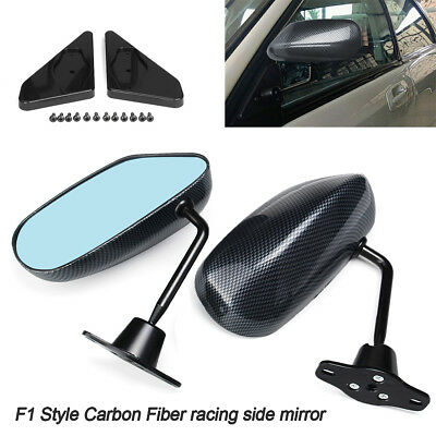 Motamec Racing 02 Formula Side Wing Mirror x2 Convex Glass REAL CARBON FIBER