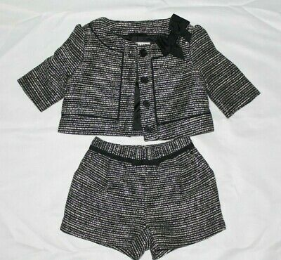 Janie and Jack French Voyage Baby Girl Boucle Jacket Shorts Outfit Set 6-12 M