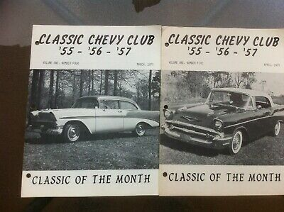 Classic Chevy Club Magazines--March & April 1975
