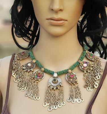 Fashion Kuchi Tribal Banjara Beaded Coins Belly Dance Vintage Gypsy Necklace