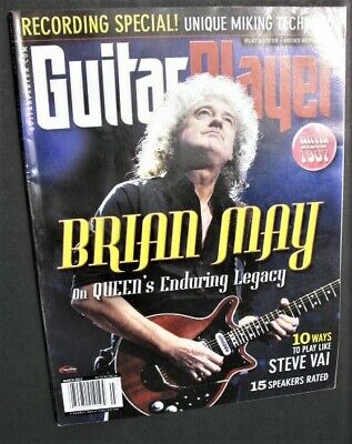 Guitar Player Magazine March 2012 Brian May Queen Steve Vai Rory Gallagher