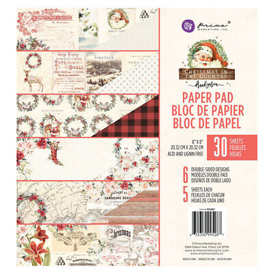 Prima Christmas in the Country Collection 8 x 8 Paper Pad
