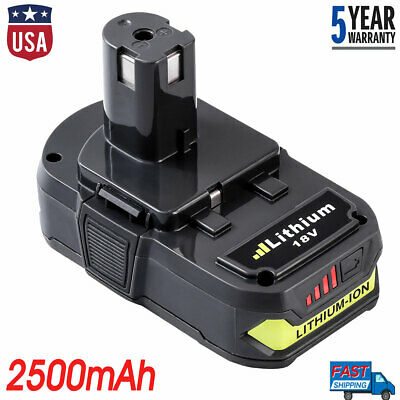 For Ryobi 18V P102 Li-ion Battery 2.5Ah ONE+P107 P103 P104 P105 P108 RB18L25 LED
