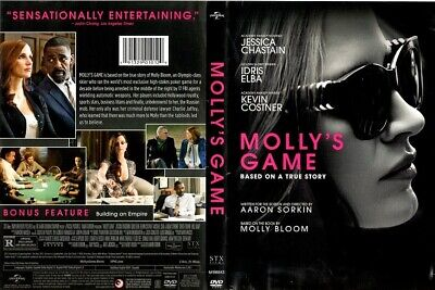 Molly's Game (DVD, 2018) - Jessica Chastain, Idris Elba, Kevin Costner