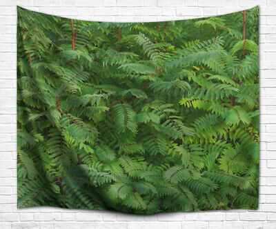 Tropical Green Plants Leaves Forest Scenery Print Fabric Tapestry Wall Hanging
