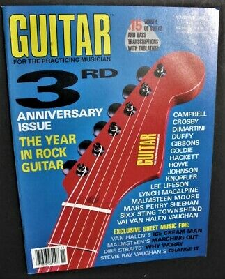 Guitar For The Practicing Musician Magazine 1986 November 3Rd Anniversary Evh