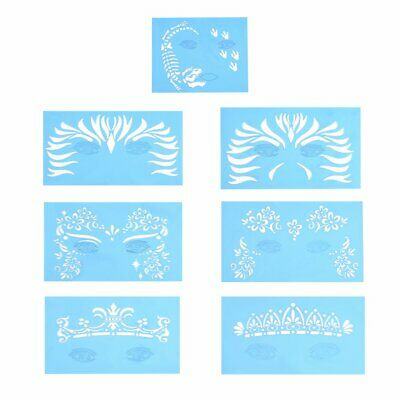 Body Face Paint Stencil Reusable for Stage Animal Play Party Makeup Useful
