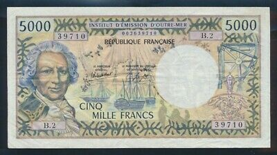 "New Caledonia: 1982 5000 Francs Sig 4 ""RARE TYPE NOTE"". P65c GF - Cat VF $187"