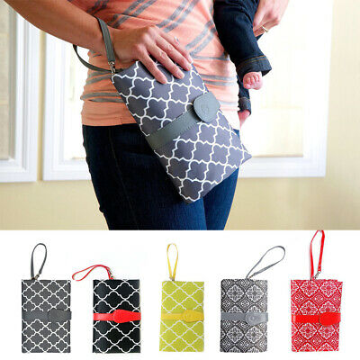 Nappy Foldable Toddler Portable Waterproof Baby Wallet Style Change Mat Clutch