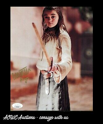 Autographed 8x10 Print - Maisie Williams - Game of Thrones (Arya Stark) - JSA