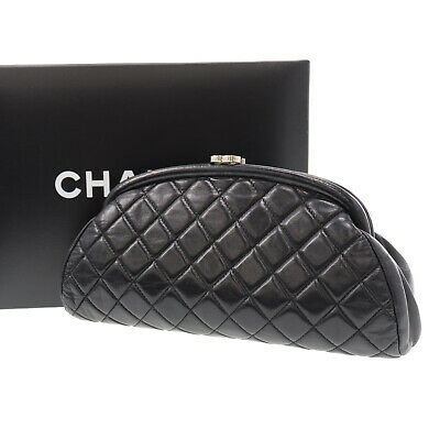 59d716f5 CHANEL BLACK QUILTED Leather Reissue Lucky Charms Mini Phone Holder ...